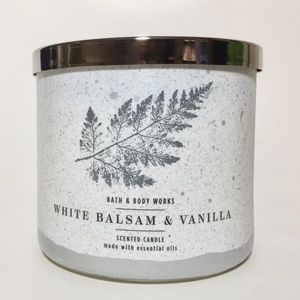 WHITE BALSAM & VANILLA 3 Wick Candle *FIRM*